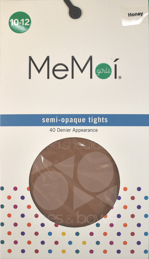 Memoi Girls Semi Opaque 40 Denier Stockings MK-305