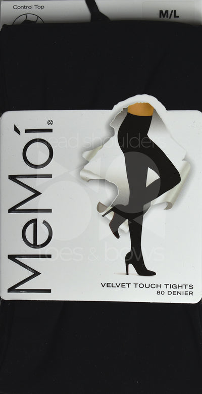 Memoi Ladies Velvet Touch 80 Denier Opaque Tights MO-313