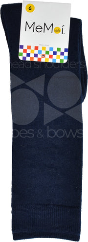 Memoi Basic Solid Knee Socks Navy MK-5056