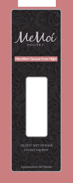 Memoi Ladies Microfiber Opaque 60 Denier Knee Highs MS-736