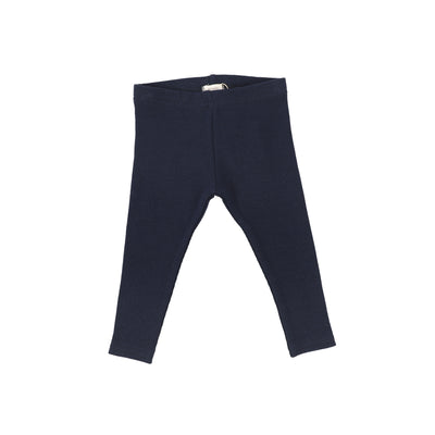 Lil Legs Ribbed Leggings - Navy