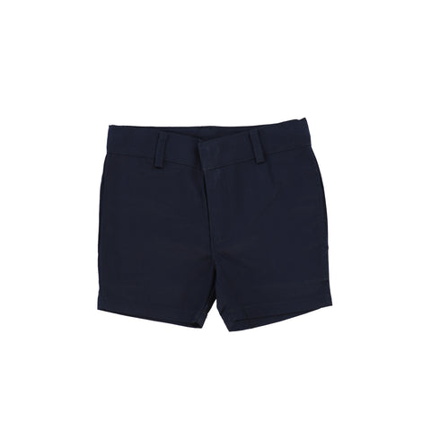 Lil Legs Boys Flat Cotton Dress Shorts - Navy