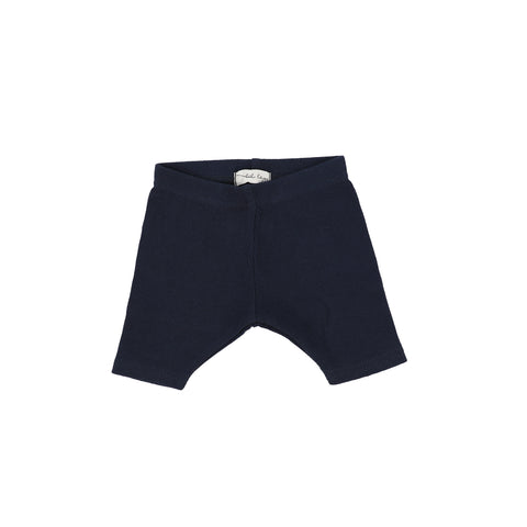 Lil Legs Ribbed Shorts - Navy
