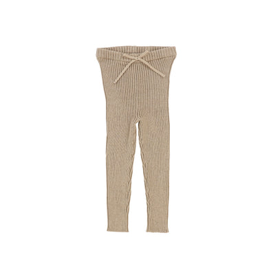 Analogie Knit Long Leggings - Oatmeal