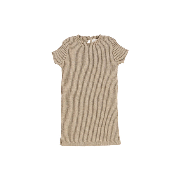 Analogie Short Sleeve Knit Sweater - Oatmeal