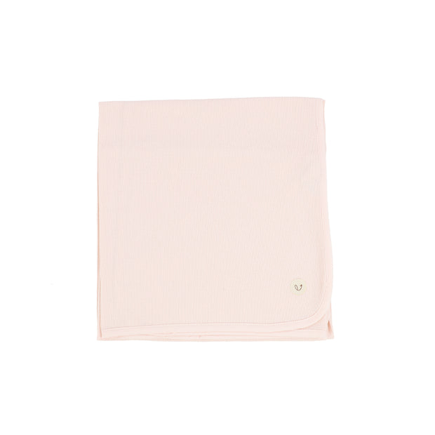 Lillette Ribbed Classic Blanket - Pale Pink
