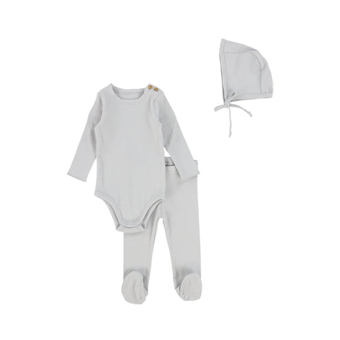 Lil Legs Ribbed Set - Pale Blue