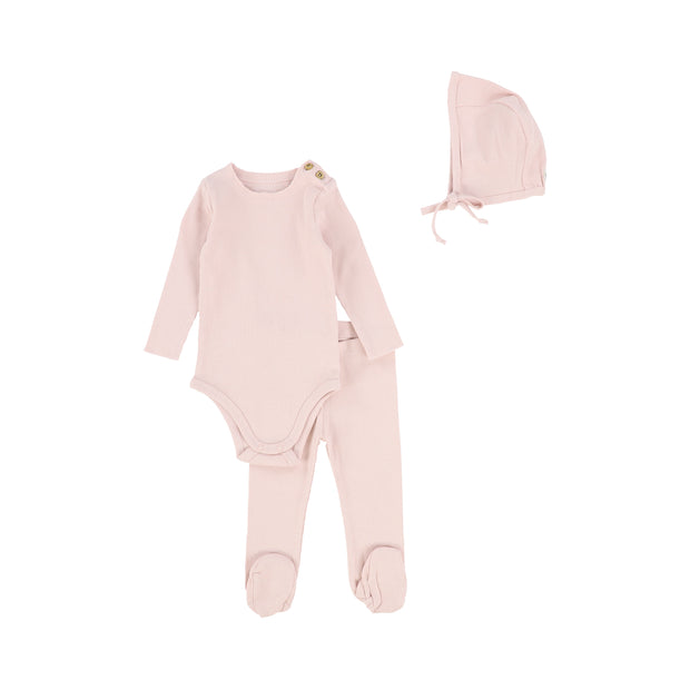 Lil Legs Ribbed Set - Pale Pink