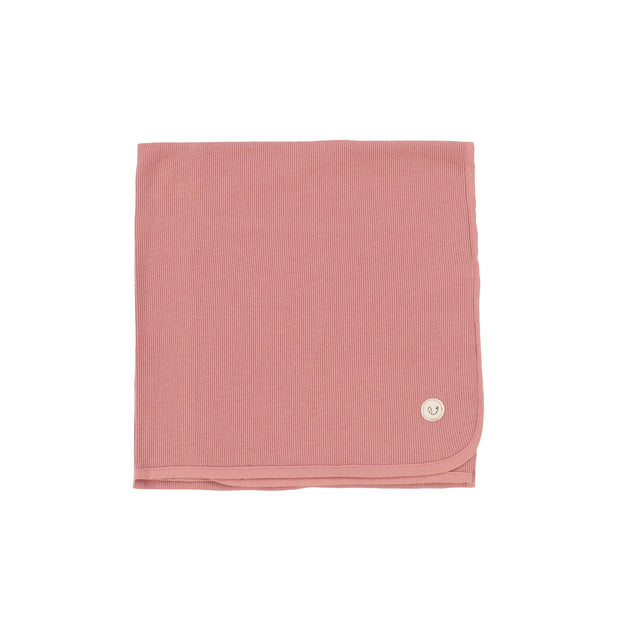 Lillette Ribbed Classic Blanket - Peachy Pink