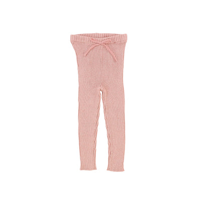 Analogie Knit Long Leggings - Pink