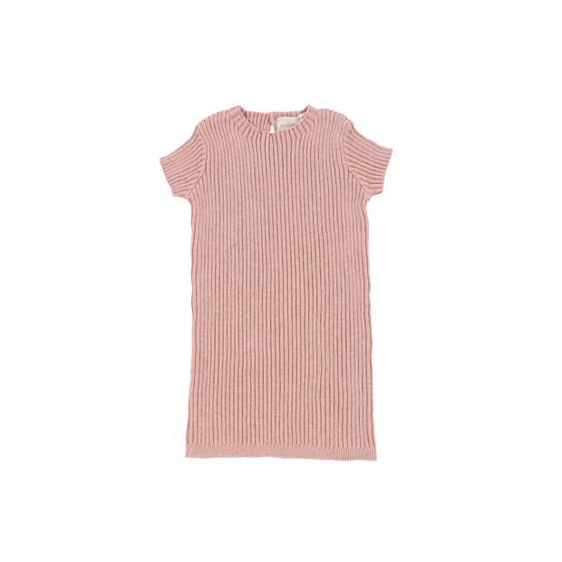 Analogie Short Sleeve Knit Sweater - Pink