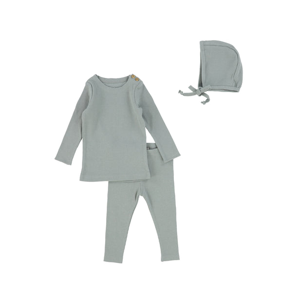Lil Legs Ribbed Set - Sage