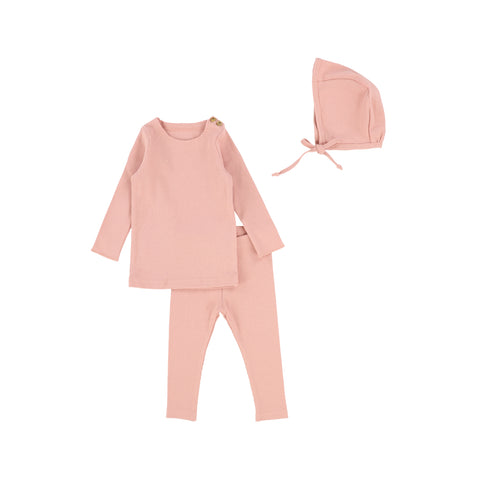 Lil Legs Ribbed Set - Salmon