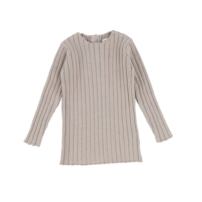 Analogie Long Sleeve Knit Sweater - Taupe