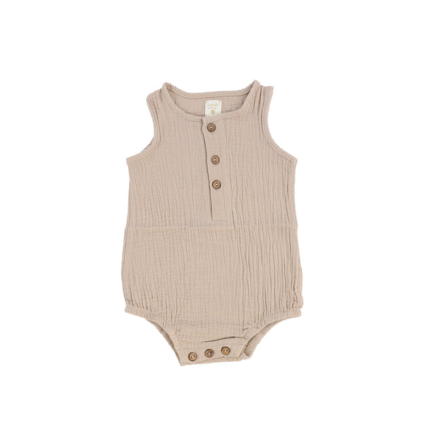 Analogie Gauze Romper - Taupe