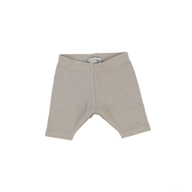 Lil Legs Ribbed Shorts - Taupe