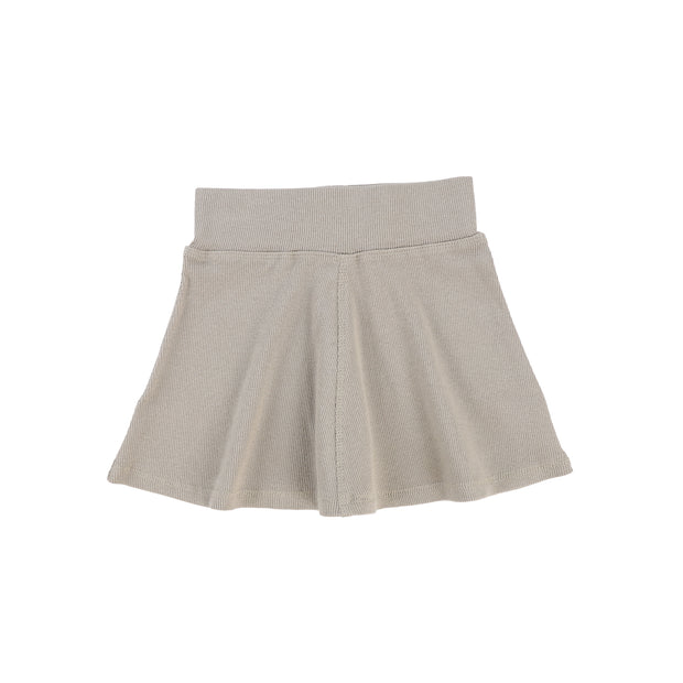 Lil Legs Ribbed Skirt - Taupe