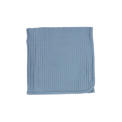 Lil Legs Wide Ribbed Blanket - Very Blue