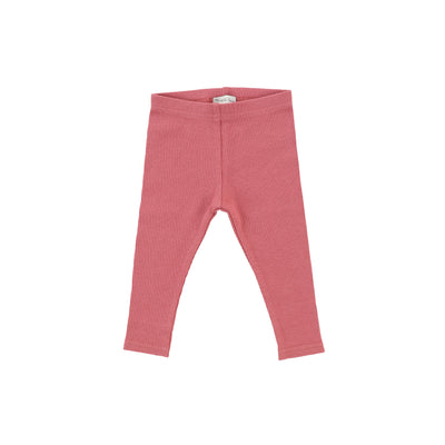 Lil Legs Ribbed Leggings - Watermelon Pink