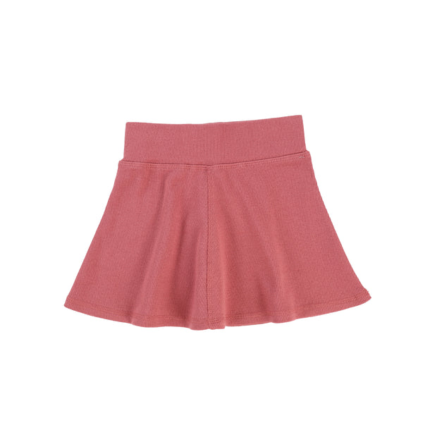 Lil Legs Ribbed Skirt - Watermelon Pink