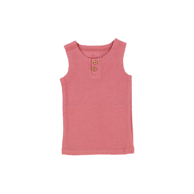 Lil Legs Ribbed Tank - Watermelon Pink