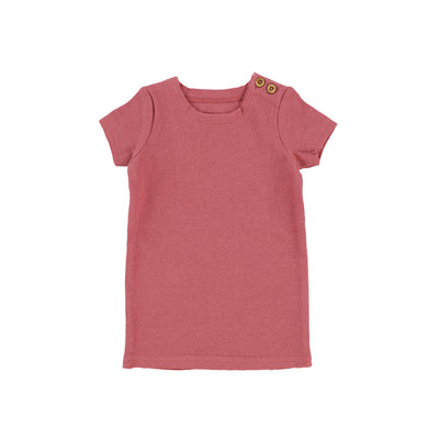 Lil Legs Short Sleeve Ribbed T-Shirt - Watermelon Pink