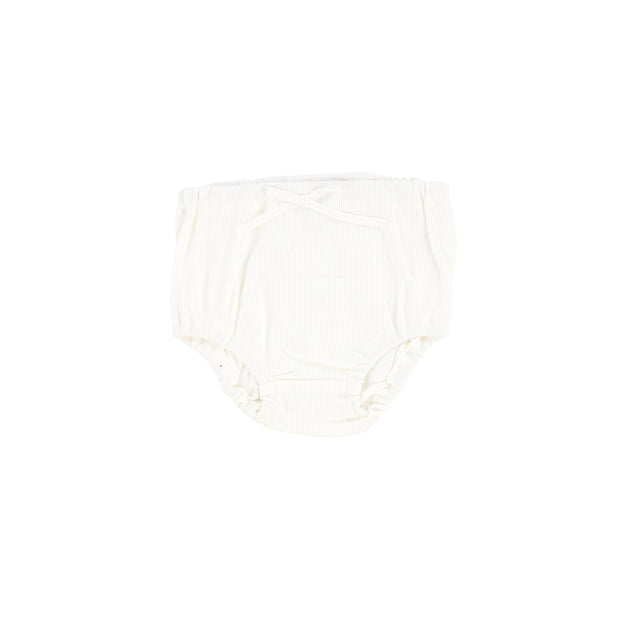 Lil Legs Rib Bloomers - Winter White