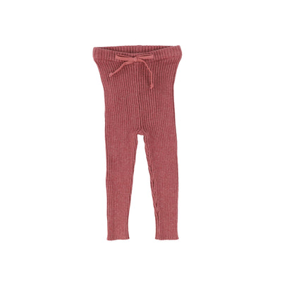 Analogie Knit Long Leggings - Mauve AW20