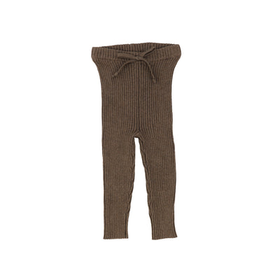 Analogie Knit Long Leggings - Dark Walnut AW20
