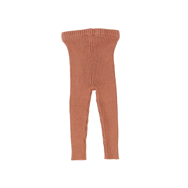 Analogie Knit Long Leggings - Salmon AW20