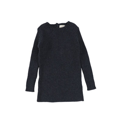 Analogie Long Sleeve Knit Sweater  - Indigo AW20