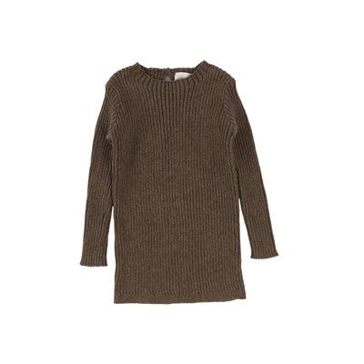 Analogie Long Sleeve Knit Sweater  - Dark Walnut AW20