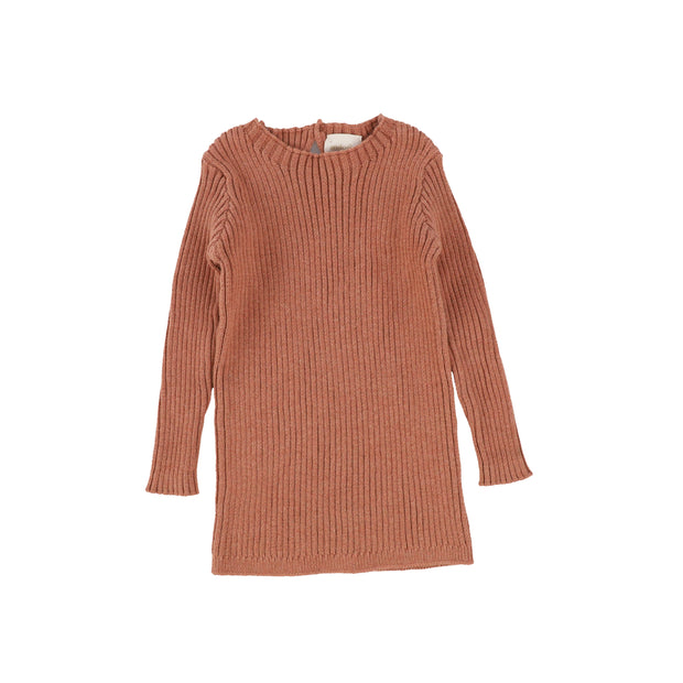 Analogie Long Sleeve Knit Sweater  - Salmon AW20