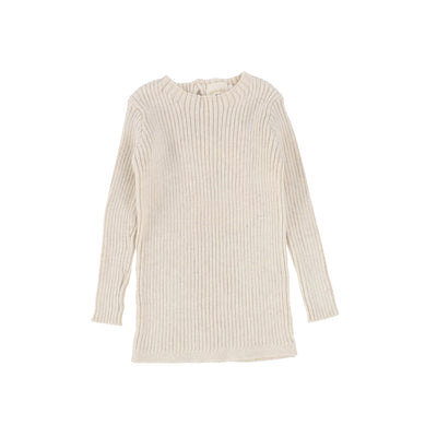 Analogie Long Sleeve Knit Sweater  - Vintage Ecru AW20