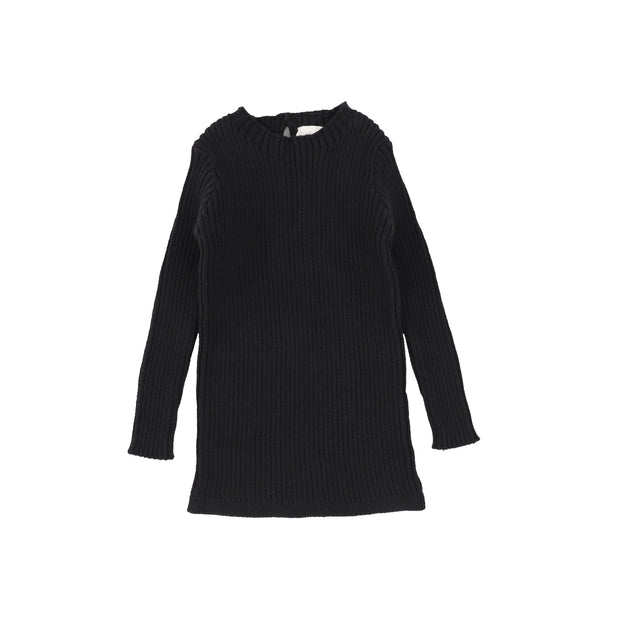 Analogie Long Sleeve Knit Sweater  - Black AW20