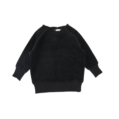 Analogie Velour Sweater - Black AW20