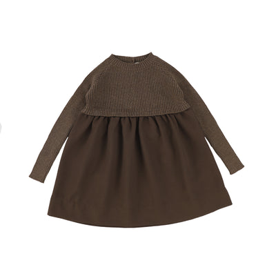 Analogie Knit Dress - Dark Walnut AW20