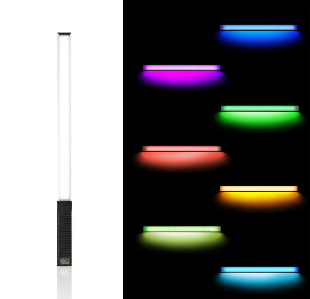 Handheld LED Video/Photography light with 12 level brightness/8 colors