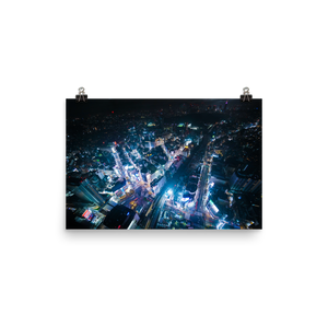 Shibuya from above // Poster