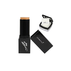 AshcosmeticsSeamless HD Foundation Stick Shade Plus Pixel Perfect Setting Powder Set - Ash