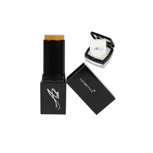 AshcosmeticsSeamless HD Foundation Stick Shade Plus Pixel Perfect Setting Powder Set - Golden (Old Name: Yellow)