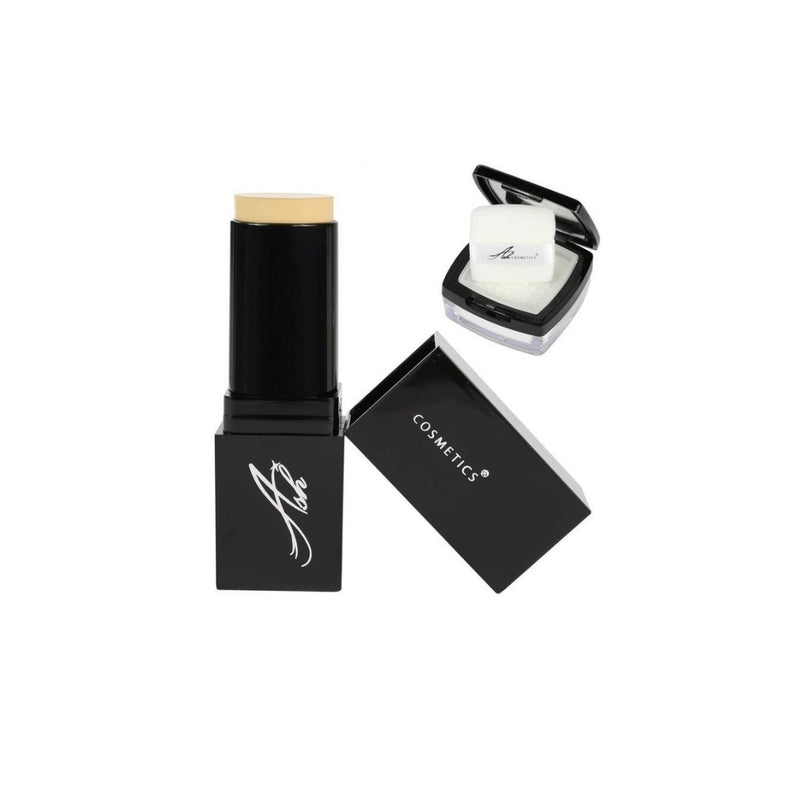 AshcosmeticsSeamless HD Foundation Stick Shade Plus Pixel Perfect Setting Powder Set - Ivory