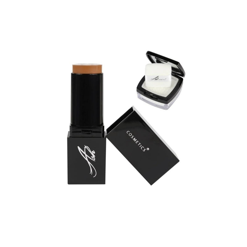 AshcosmeticsSeamless HD Foundation Stick Shade Plus Pixel Perfect Setting Powder Set - Medium