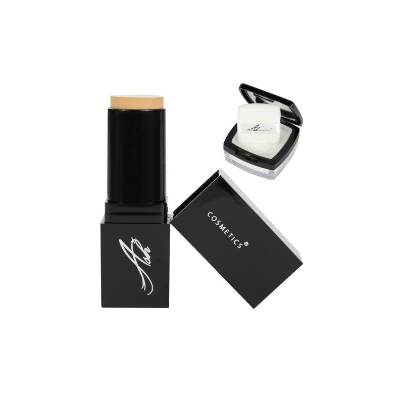 AshcosmeticsSeamless HD Foundation Stick Shade Plus Pixel Perfect Setting Powder Set - Pale