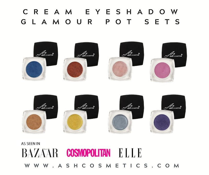 Cream eye shadow Glamour Pot - All 8 creme eye shadows in a gift set - Ashcosmetics