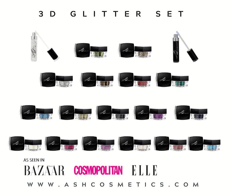 Glitter Eyeshadow Set offer with Both Adhesives - Ashcosmetics