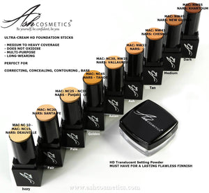 Seamless HD foundation Gift Set with Translucent Powder - Ashcosmetics