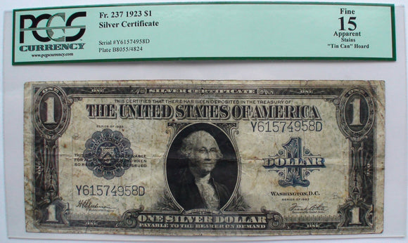 1923 US One 1 Dollar Bill Note Currency Paper Money George ...