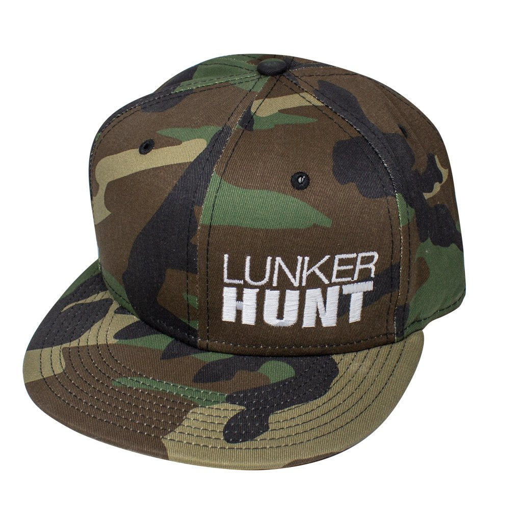 Stacked Camo Snapback Hat