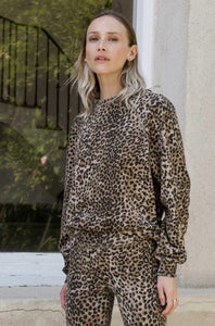 Sweatshirt Brown Leopard - Ragdoll LA